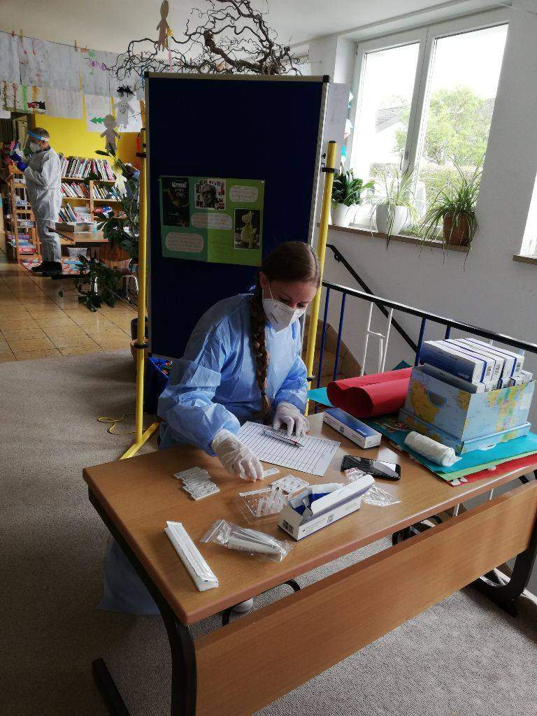 Coronatestung an der Grundschule Bachheim-Unadingen